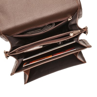 Мужской портфель из натуральной кожи Lakestone Bishop Brown
