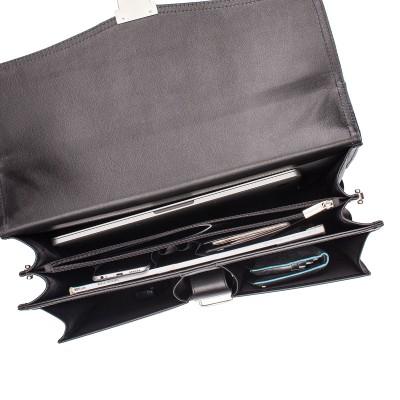 Кожаный портфель мужской Lakestone Farington Black