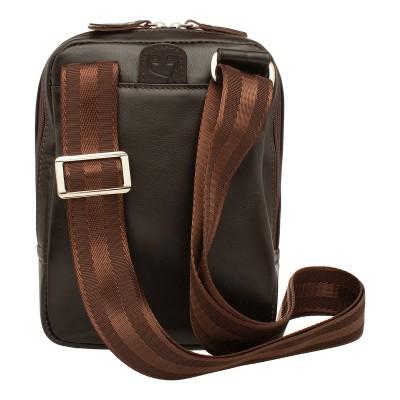 Кожаная мужская сумка через плечо Oakland Brown