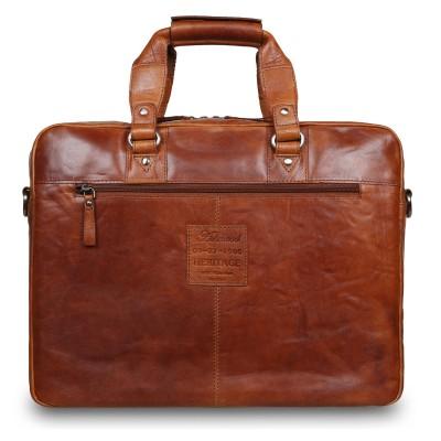 Деловая сумка Ashwood Leather F-83 Cognac