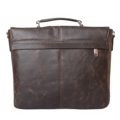 Кожаный портфель мужской Fontevivo brown (арт. 2005-04)