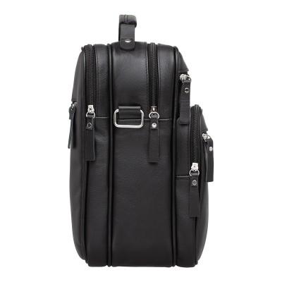 Кожаная мужская сумка через плечо Handford Black