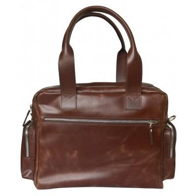 Кожаная деловая сумка Carlo Gattini Rotelle brown (арт. 1026-02)