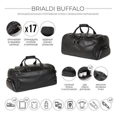 Дорожно-спортивная сумка BRIALDI Buffalo (Буффало) relief black