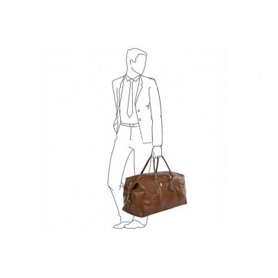 Дорожная сумка Ashwood Leather Harold Chestnut Brown
