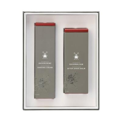 Muehle- Подарочный набор для бритья, крем и бальзам после бритья, Сандал
