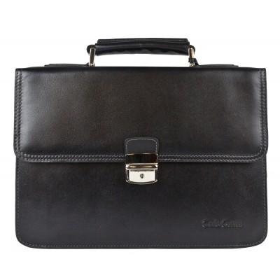 Кожаный портфель мужской Carlo Gattini Biforco black (арт. 2027-30)