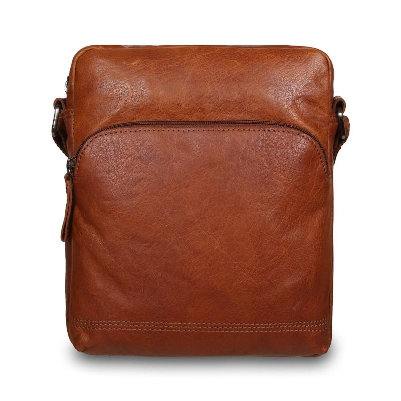 Мужская сумка через плечо Ashwood Leather  F-82 Cognac