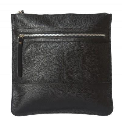 Кожаная мужская сумка через плечо  Valbona black (арт. 5022-01)