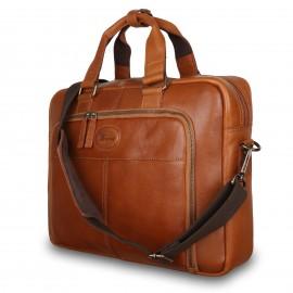 Деловая сумка Ashwood Leather 8143 Tan