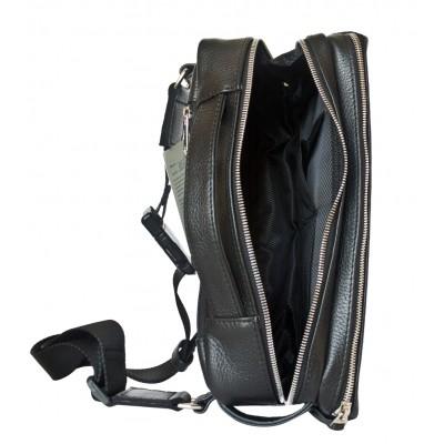 Кожаная поясная сумка Carlo Gattini Arolla black (арт. 7011-01)