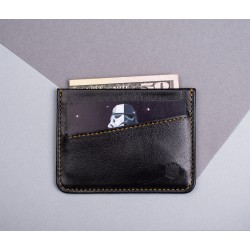 Кардхолдер Sneek slim wallet black X tan