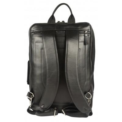 Мужской рюкзак из натуральной кожи Carlo Gattini Vivaro black (арт. 3075-01)