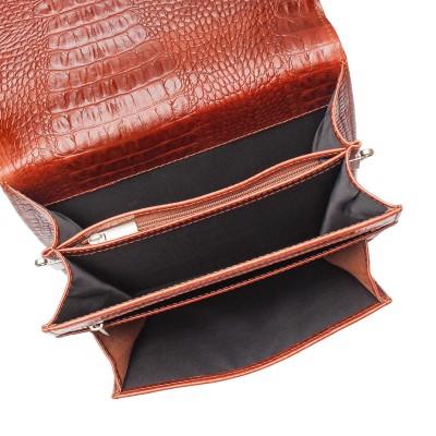 Портфель вертикальный Gilbert Redwood Caiman