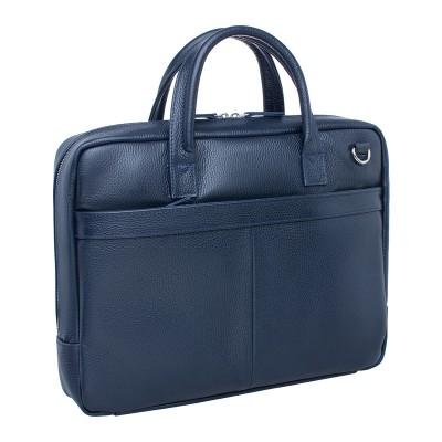Кожаная деловая сумка Carter Dark Blue