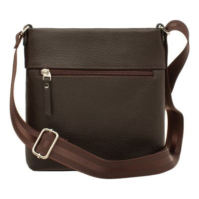 Кожаная мужская сумка через плечо Homefield Brown