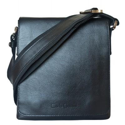 Кожаная мужская сумка через плечо Carlo Gattini Vallecorsa black (арт. 5044-01)