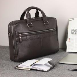 Мужская деловая сумка с 23 карманами и отделами BRIALDI Baltimore (Балтимор) relief brown