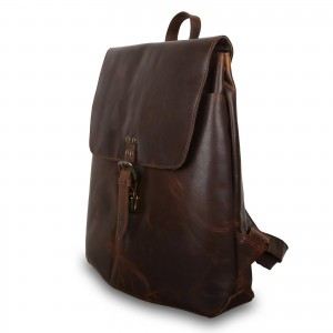 Кожаный рюкзак мужской Ashwood Leather Scott Copper Brown