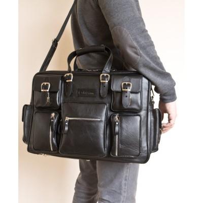 Кожаная дорожная мужская сумка Carlo Gattini  Fornelli black (арт. 5033-01)
