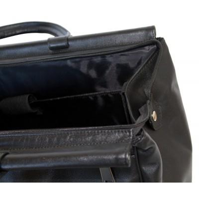 Кожаный саквояж Carlo Gattini Otranto black (арт. 4006-01)