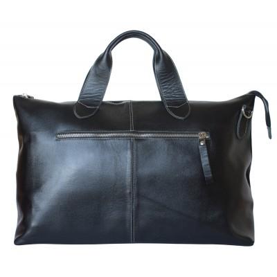 Кожаная дорожная сумка Carlo Gattini Cassolo black (арт. 4002-01)