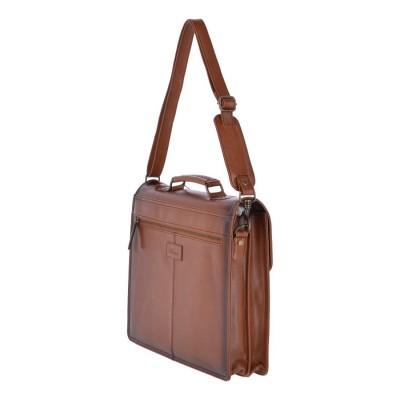Мужской портфель из натуральной кожи Ashwood Leather Orlando Tan