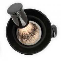 Muehle - Чаша для бритья, черный фарфор, с ручкой