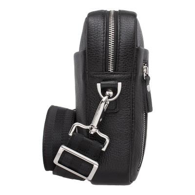 Кожаная мужская сумка через плечо Jones Black