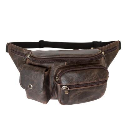 Кожаная поясная сумка Carlo Gattini Settimo brown (арт. 7002-04)