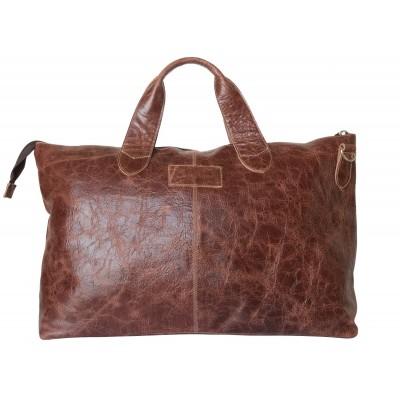 Кожаная дорожная сумка Cassolo brown (арт. 4002-02)