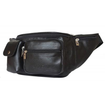 Кожаная поясная сумка Carlo Gattini Settimo black (арт. 7002-01)