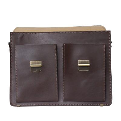 Кожаный портфель мужской Carlo Gattini Montelago brown (арт. 2002-31)