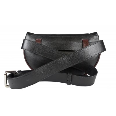 Кожаная поясная сумка Carlo Gattini Esperita black (арт. 7012-01)