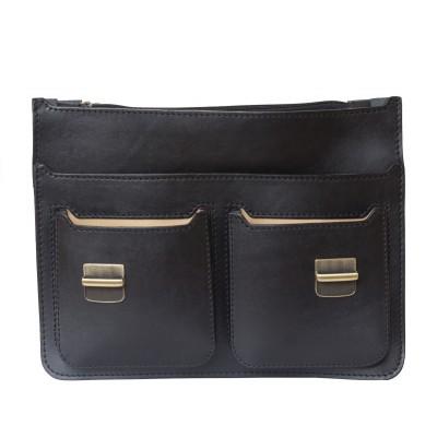 Мужской портфель из натуральной кожи Carlo Gattini Fraccano black (арт. 2003-30)