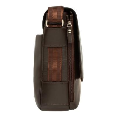 Кожаная мужская сумка через плечо Fernside Brown