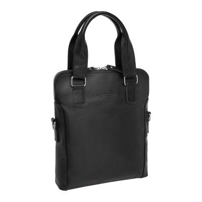 Кожаная мужская сумка через плечо Hollywell Black