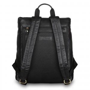 Кожаный рюкзак мужской Ashwood Leather M-51 Black