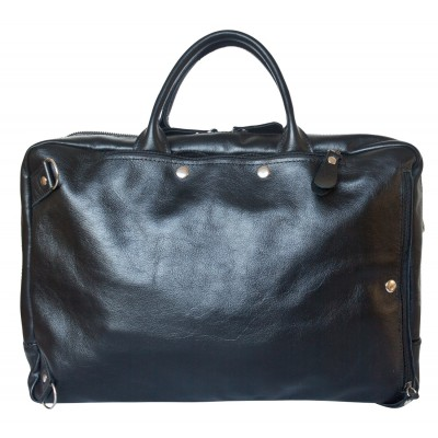 Кожаная сумка-рюкзак Carlo Gattini Ferrone black (арт. 3063-01)