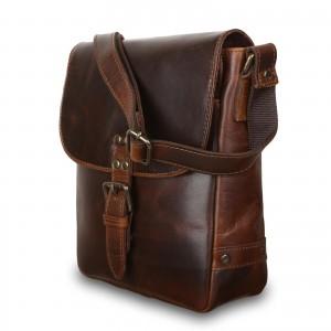 Кожаная мужская сумка через плечо Ashwood Leather Eden Copper Brown