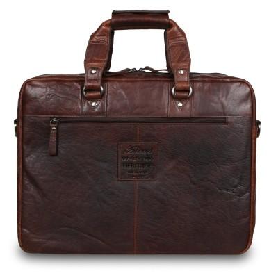 Деловая сумка Ashwood Leather  F-83 Brandy