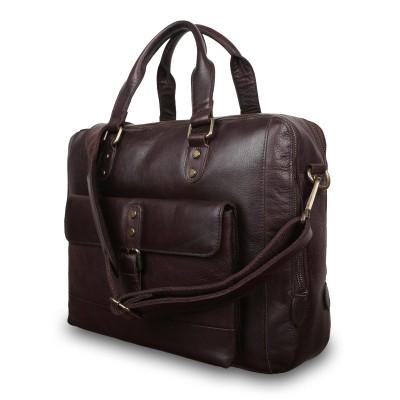 Деловая сумка Ashwood Leather  1334 Brown