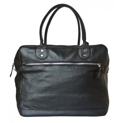 Кожаная дорожная сумка Carlo Gattini Oris black (арт. 4020-01)