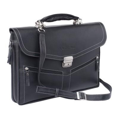 Мужской портфель из натуральной кожи Lakestone Filton Black