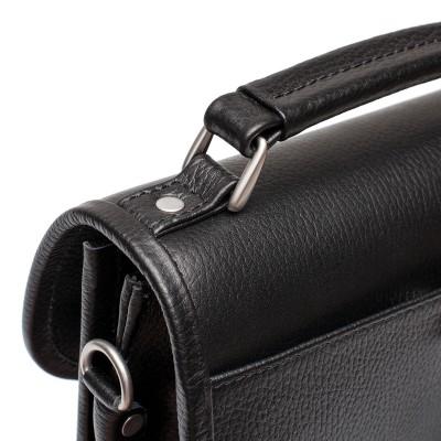 Мужской портфель из натуральной кожи Lakestone Bishop Black
