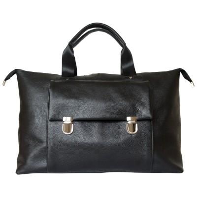 Кожаная дорожная сумка Carlo Gattini Alberola black (арт. 4015-01)