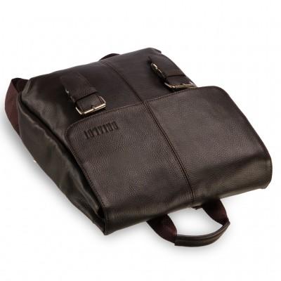 Практичный мужской рюкзак из кожи  BRIALDI Broome (Брум) relief brown