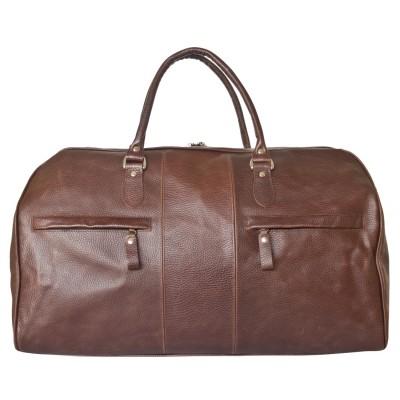 Дорожная сумка из кожи Carlo Gattini Campelli dark terracotta (арт. 4014-94)