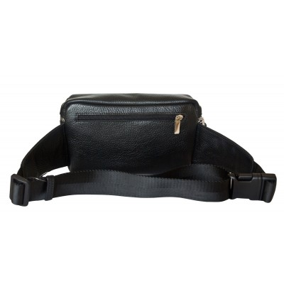 Кожаная поясная сумка Carlo Gattini Aosta black (арт. 7010-01)
