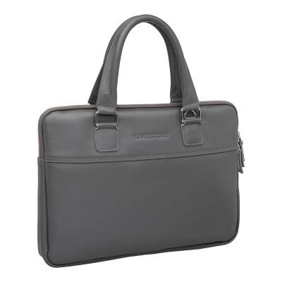 Кожаная деловая сумка Anson Grey